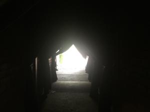 Picture of the darkroom hallway exit.