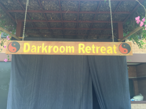 Image of the entrance to the Darkroom retreat
