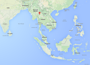 Map of retreat location in Northern Thailand.