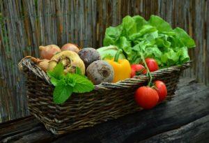 Vegetables in a basket image
